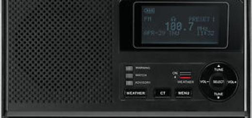 Sangean CL-100 Table-Top Weather Hazard Alert